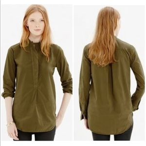 NWT MADEWELL   Perfect Cotton Tunic in Green Sz XS